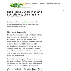 Home Buyers Plan and Lifelong Learning Plan