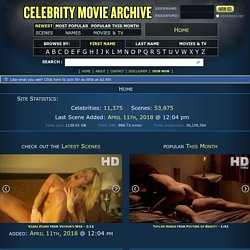 Celebrity Movie Archive
