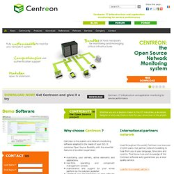 Centreon - Revisited Experience Of Nagios - Web Site - Home