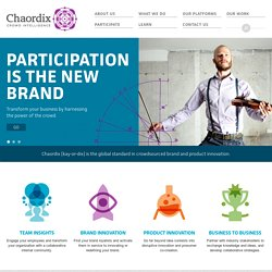 Chaordix Crowdsourcing for Innovation, Market Research and Idea Management