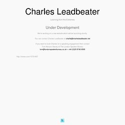Home :: Charles Leadbeater