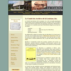 Home - Le Comité des Archives de la Louisiane, Inc.