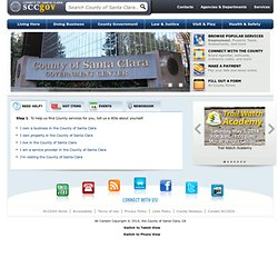 The County of Santa Clara - SCC Public Portal