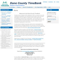 Dane County TimeBank - Home