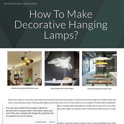 Home Decorative Lighting Ideas