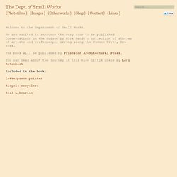 Home - The Department of Small Works