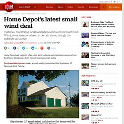 Home Depot's latest small wind deal