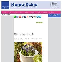 Make concrete flower pots