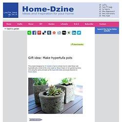 Gift idea: Make hypertufa pots