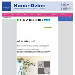 Home-Dzine - Recycle pizza boxes into wall art