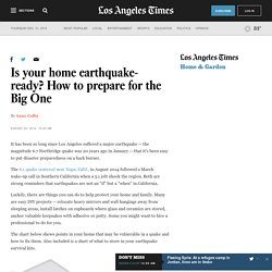 Is your home earthquake-ready? How to prepare for the Big One