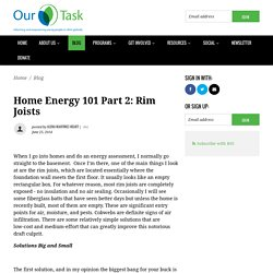 Home Energy 101 Part 2: Rim joists - Our Task