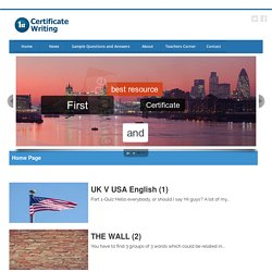 Home Page - First Certificate Writing