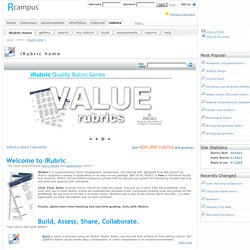 Home of free rubric tools: RCampus
