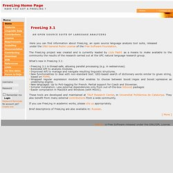 home - FreeLing Home Page