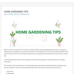 HOME GARDENING TIPS – Repco Home