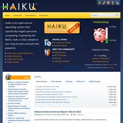 Haiku Project | Home of the Haiku Operating System
