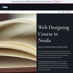 Web Designing Course in Noida