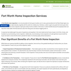 Home Inspection in Fort Worth, Texas