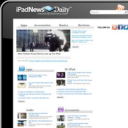 iPadNewsDaily.com - Apple iPad tablet news, reviews, apps, games and accessories