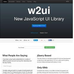 w2ui - JavaScript UI