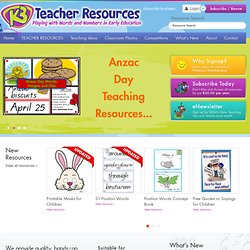 K-3 Teacher Resources - Much More than Just Printable Worksheets