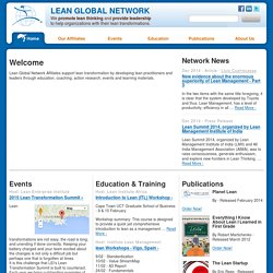 Home | Lean Global Network