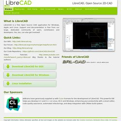Home of LibreCAD, 2D-CAD