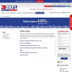 Calculate Home Loan Emi - DHFL