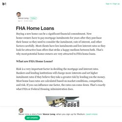 FHA Home Loans – Vance Long – Medium