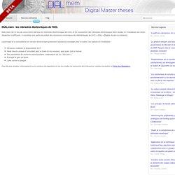 Mémoire UCL
