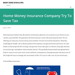 Home Money Insurance Company Try To Save Tax