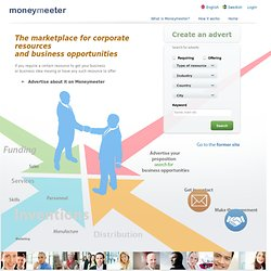 Moneymeeter - The Business Network for Entrepreneurs and Investors