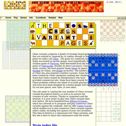 Home page of The Chess Variant Pages