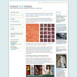 Home Page in Oxford Art Online