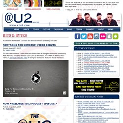 U2 Home Page: @U2 - U2 News, U2 Lyrics, U2 Photos and more!