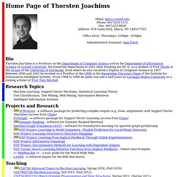Home Page of Thorsten Joachims