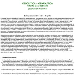 Home Page do Prof. José William Vesentini