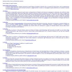 Home Pages di singoli studiosi