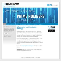 Home - Prime Numbers Technology