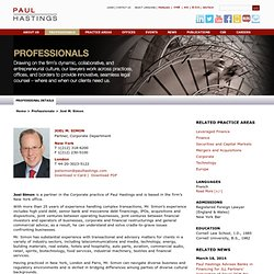 Paul Hastings: Professional: Joel M. Simon