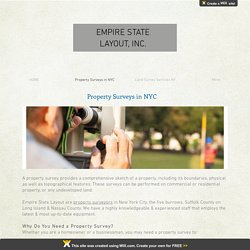 Property Surveyors in NY: Empire State Layout