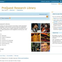 Home Page - ProQuest Research Library