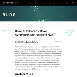 Home.Pi Reloaded - Home Automation with Ionic and MQTT