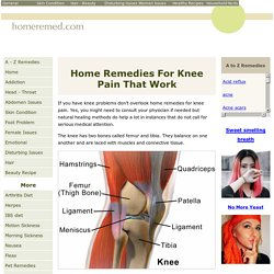 Home Remedies For Knee Pain Treatment