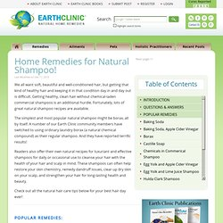 Natural Shampoo Recipes