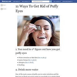 Home Remedies for Puffy Eyes - Naturally Get rid of puffy eyes