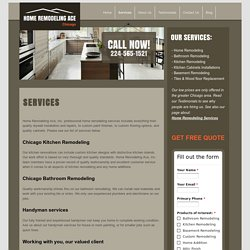 Home Remodeling Ace – Services