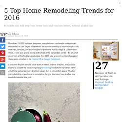 5 Top Home Remodeling Trends for 2016