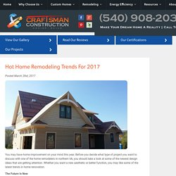 Hot Home Remodeling Trends for 2017